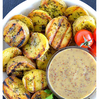 Grilled Potatoes with Mustard Vinaigrette.
