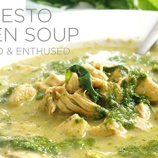 Kale Pesto Chicken Soup.