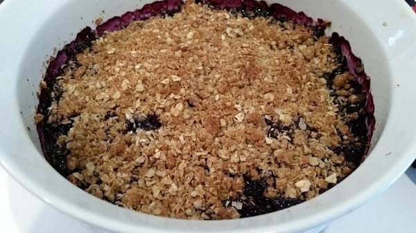 Sprinkle evenly over the blueberries and bake for 40 minutes or until golden and...