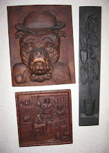 Photo: El cuadro del bulldog tiene unas dimensiones de 49 x 40 cm. || Talla en madera. Woodcarving.   Puedes conocer más de este artista en el blog: http://tallaenmadera-woodcarving-esculturas.blogspot.com/