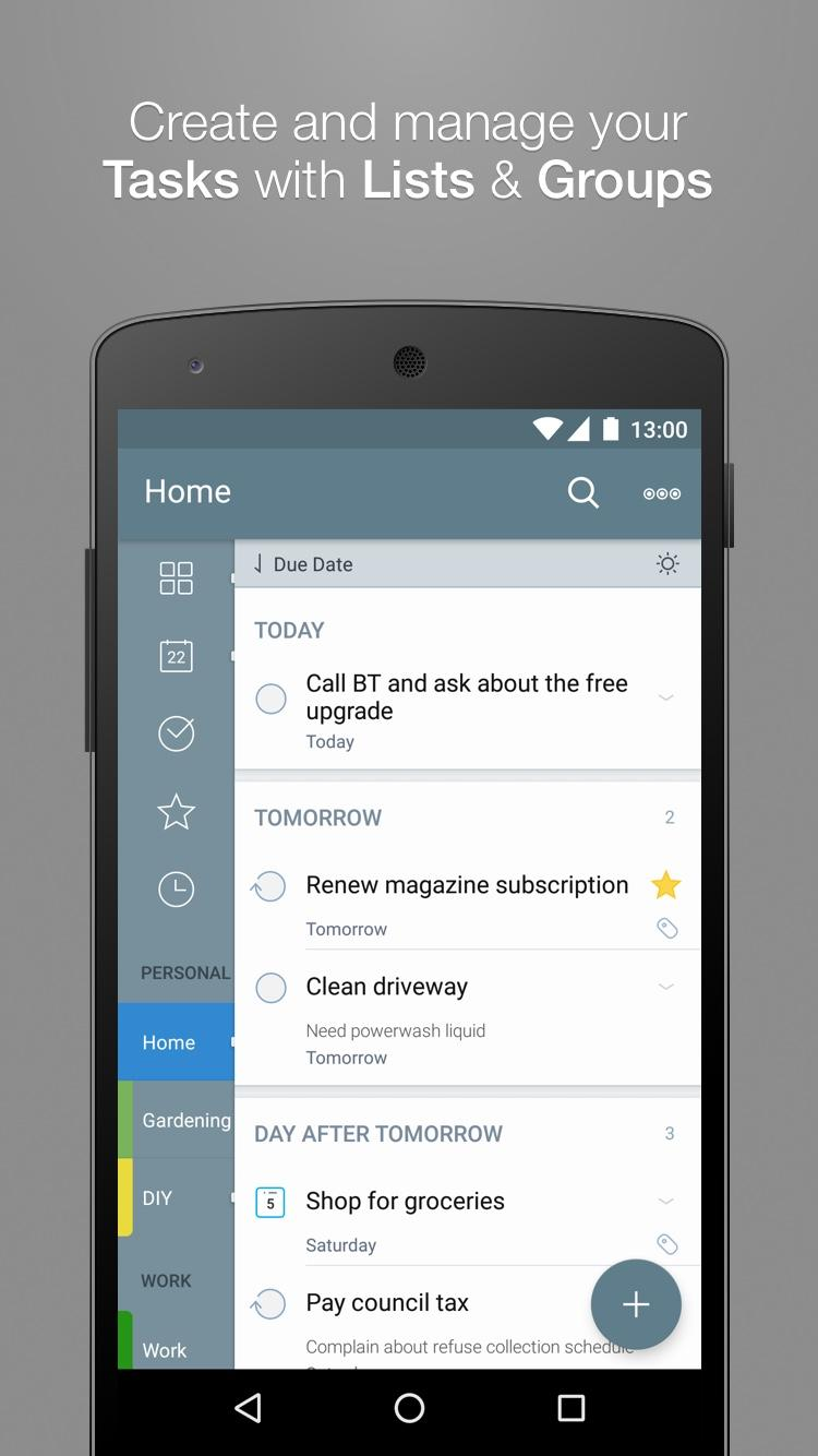 2Do - Reminders, To-do List & Notes Screenshot