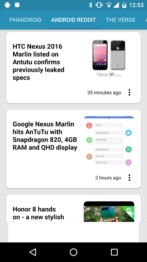 News on Android™- screenshot
