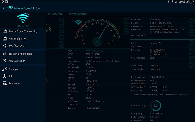 Network Signal Info Pro Screenshot 11
