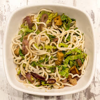 Savoy and Sesame Noodles With Tofu from 'Vegan in 15'.