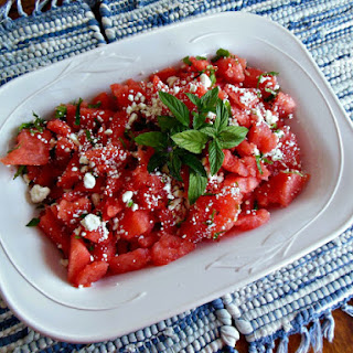 Watermelon with Mint and Feta Recipe