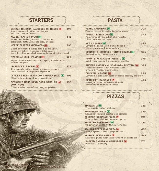 38 Barracks menu 19