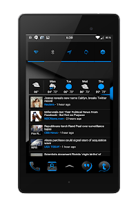 Blak Azurro  CM12-13 Theme screenshot 15