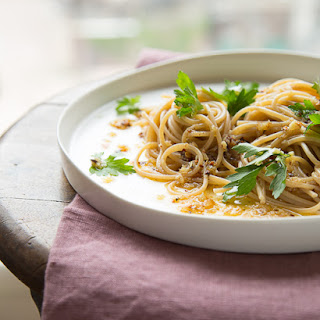 Pasta with Roasted Garlic and Chili Oil