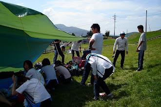 Photo: さーさーテントをおっ立てまSHOW!