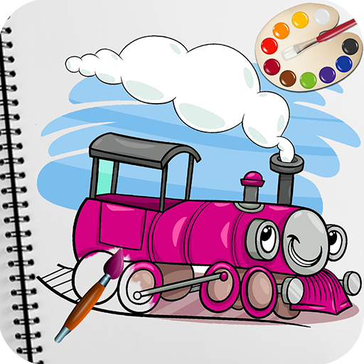 Train Coloring Book Pages Game