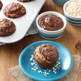 Nutella Swirled Peanut Butter Oat Muffins.
