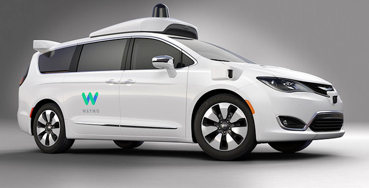 A Chrysler Pacifica Hybrid minivan, equipped with Waymo's technology. Picture: FIAT