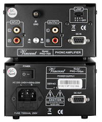 PHO-700 Back, Phone Preamplifier from Vincent Audio in the UK