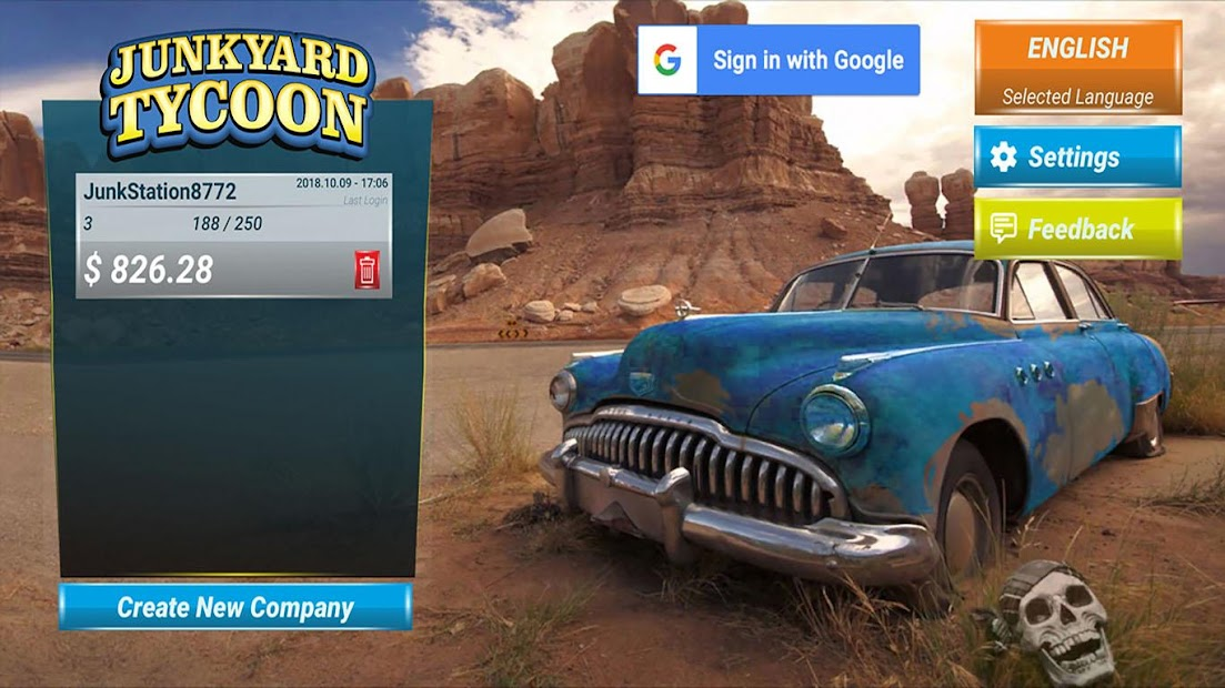 Junkyard Tycoon - Car Business Simulation Game Android App Screenshot