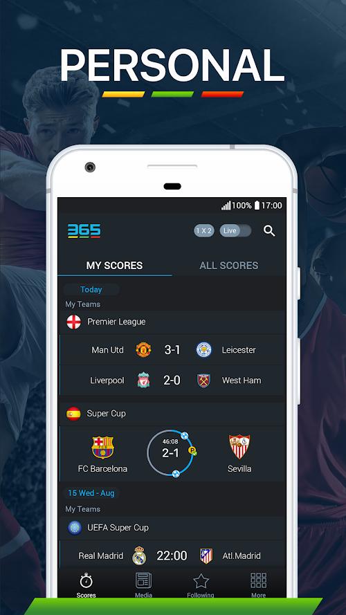 Screenshot 2 365Scores - Live Scores & Sports News 6.6.4 APK MOD