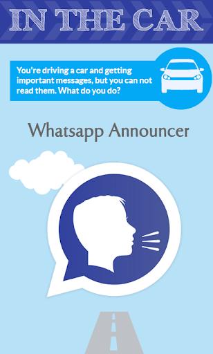 Announcer for Whatsapp