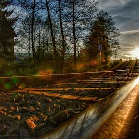The sun on the rails by Dasa Augustinova - Uncategorized All Uncategorized