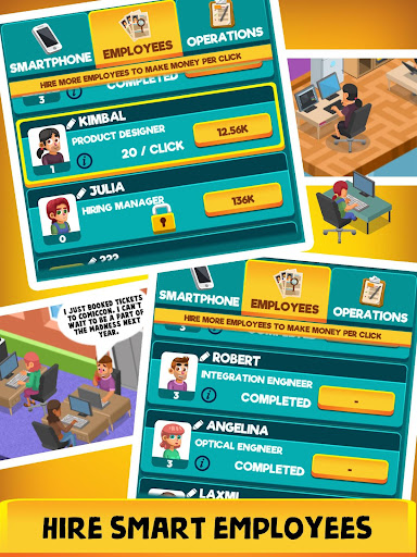 Idle Smartphone Tycoon - Phone Clicker & Tap Games 1.0.9 screenshots hack proof 2