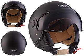 Moto Helmets H44 - Helmet Casco de Moto , Negro Matte, XL (61-62cm)