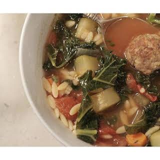 Italian Meatball Soup.