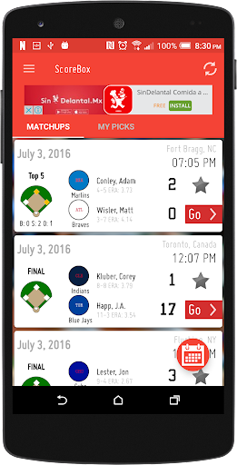 ScoreBox - Baseball Stats