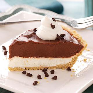 Chocolate Cream Cheese Pie.