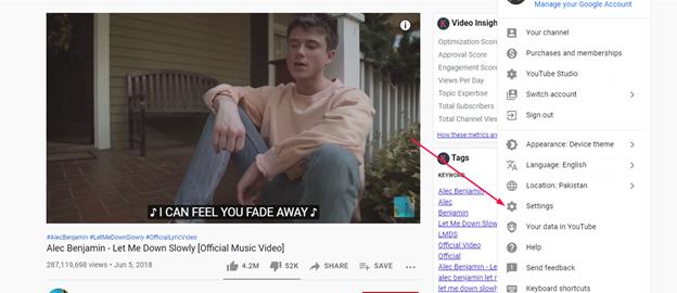 Turn on subtitles on all YouTube videos - Step 1