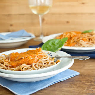 Homemade Marinara And Whole Wheat Pasta.