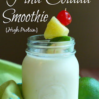 Pina Colada Smoothie {High Protein}