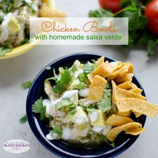 Chicken Bowls With Homemade Salsa Verde