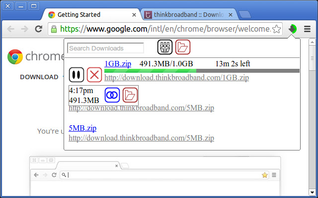 Download Manager Button