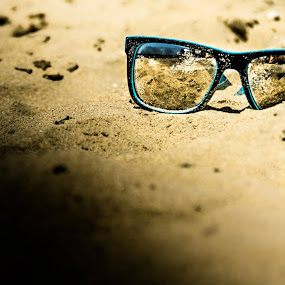 Glasses on the Beach by Luke Porter - Artistic Objects Clothing & Accessories