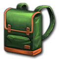 緑のデイバッグ