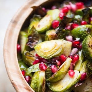 Roasted Brussels Sprouts with Pomegranate.