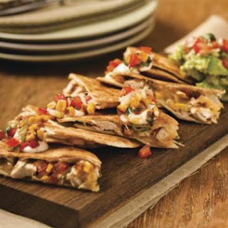 Chicken Quesadillas with guacamole