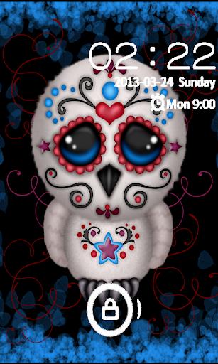 Sugar Skull Owl GO LOCKER Them