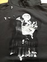 Photo: Teeshirt personnalisé : décollage du flex à l'aide de decollflex / Teeshirtmania