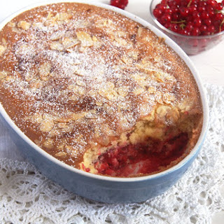 Easy Red Currant Cobbler with Almonds.