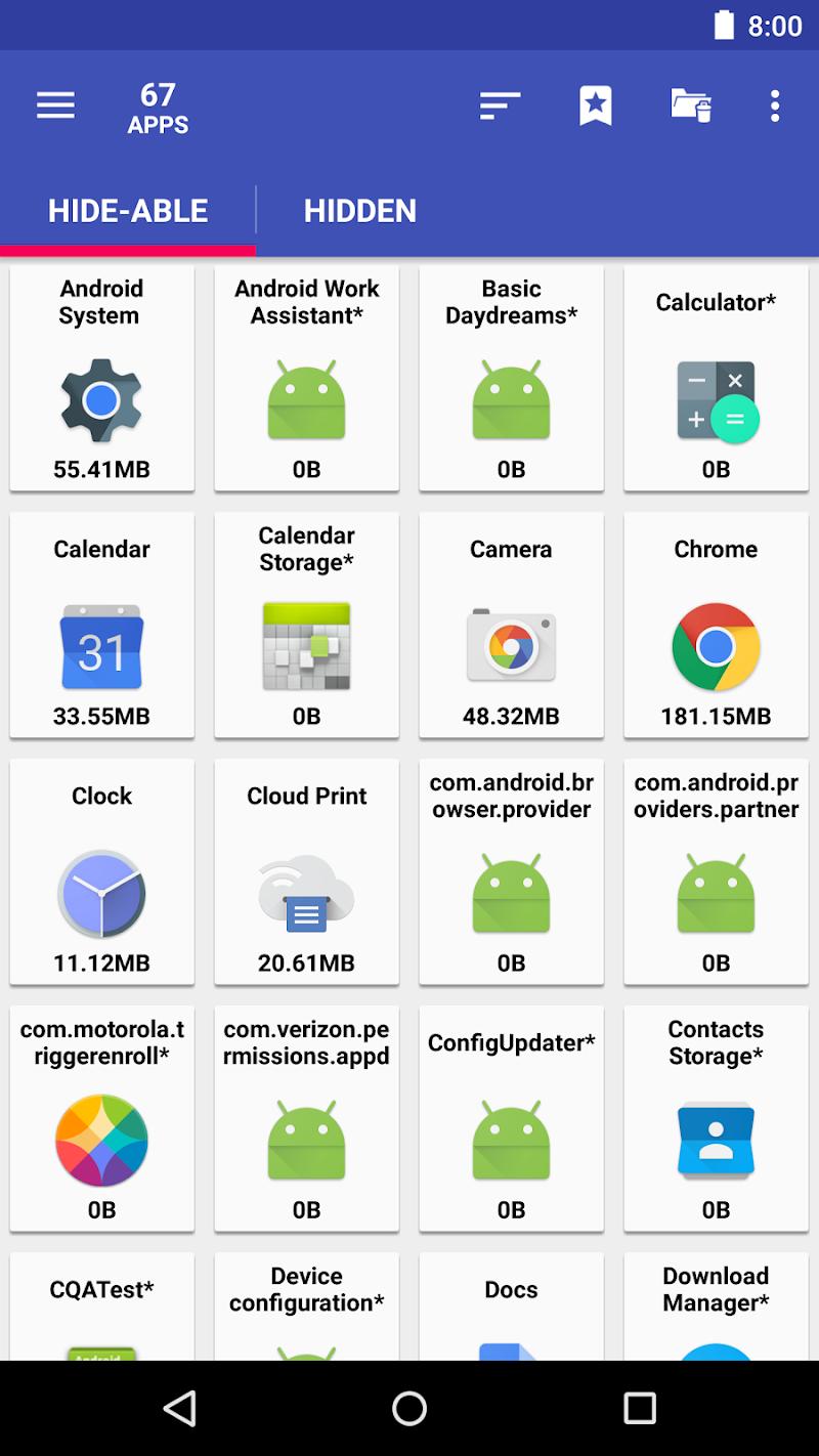 AppMgr Pro III (App 2 SD, Hide and Freeze apps) Screenshot 1