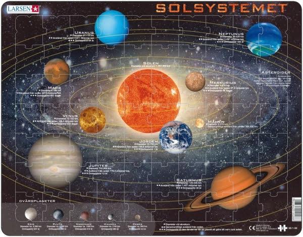 Larsen pussel Solsystemet 70 bitar