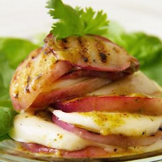 Grilled Nectarine Mozzarella Stacked Salad.