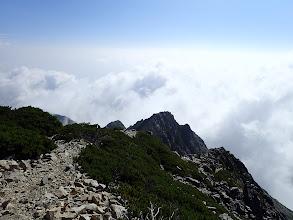 五龍山荘へ下山