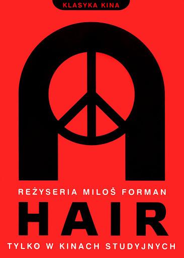 Przód ulotki filmu 'Hair'