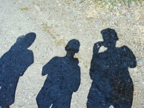 Photo: Introducing the grandkids to the wonders of shadow pictures. They were confused but humored Granpaula anyway.