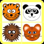 Animal Head memory Game