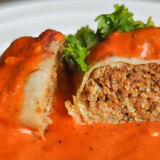Cabbage Rolls with Tomato Cream Sauce.