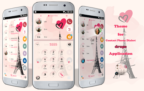 Glass Paris Phone Dialer Theme 3.0