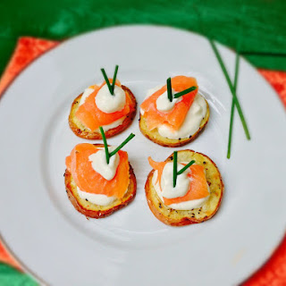 Easy Potato Rounds with Smoked Salmon Canapes For Your Next Party