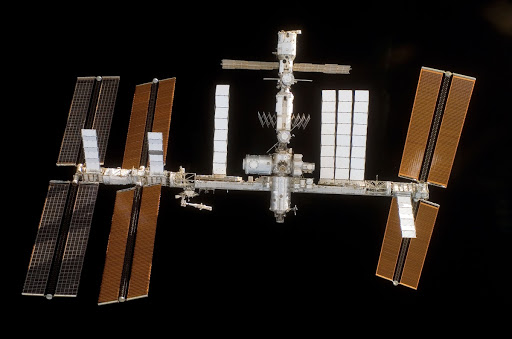 Flyaround view of ISS after undocking