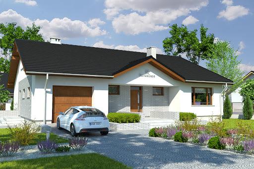 projekt Aron z garażem 1-st. A1